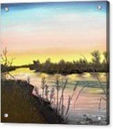 Platte River Sunrise Acrylic Print