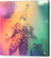 Play Act Of A Puppet Clown Performing A Sad Mime Acrylic Print