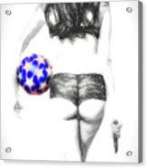 Play Ball Or Else  ... Acrylic Print
