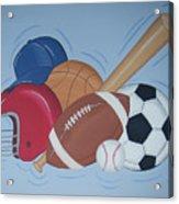 Play Ball Acrylic Print by Valerie Carpenter