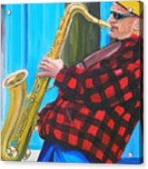 Play It Mr Sax Man Acrylic Print