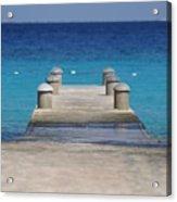 Playa Azul Dock Acrylic Print