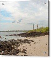 Playa De La Estacion On Santa Cruz Island In Galapagos Acrylic Print