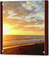 Playa Hermosa Puntarenas Costa Rica - Sunset A One Detail Two Vertical Poster Greeting Card Acrylic Print