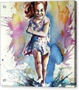 Playing Girl Acrylic Print
