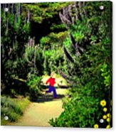 Playing In The Garden Five Acrylic Print