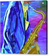 Playing The Blues Acrylic Print