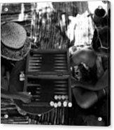 playng backgammon Sinai Egypt Acrylic Print