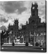 Plaza De Cibeles Fountain Madrid Spain Acrylic Print
