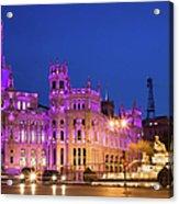 Plaza De Cibeles In Madrid Acrylic Print