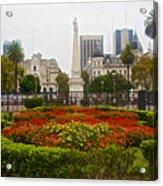 Plaza De Mayo In Buenos Aires-argentina  Acrylic Print