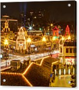 Plaza Overlook At Christmas Acrylic Print