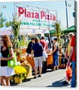 Plaza Pizza Acrylic Print