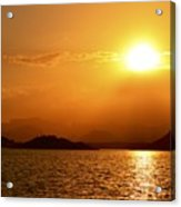 Pleasant Sunset Acrylic Print