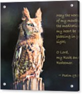 Pleasing In Your Sight - Psalm 19 Acrylic Print
