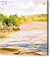 Plein Air At Pine Falls Manitoba Acrylic Print