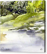 Plein Air At The Pond At Nutimik  Acrylic Print
