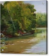 Plein Air Willow Creek Acrylic Print