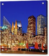 Plein At Blue Hour - The Hague Acrylic Print