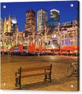 Plein Square At Night - The Hague Acrylic Print