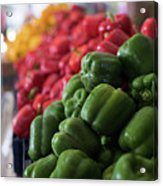 Plethora Of Peppers Acrylic Print