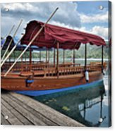 Pletna Boats Of Lake Bled Acrylic Print