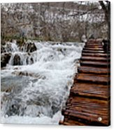 Plitvice Lakes Boardwalk Acrylic Print