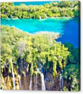 Plitvice Lakes National Park Vertical View Acrylic Print
