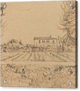 Ploughman In The Fields Near Arles 1888 Acrylic Print