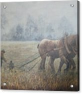 Plowing It The Old Way Acrylic Print
