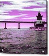 Plum Beach Lighthouse In Ir Acrylic Print