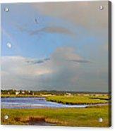 Plum Island Rainbow Acrylic Print