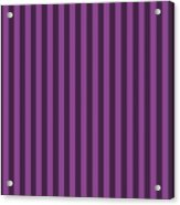 Plum Purple Striped Pattern Design Acrylic Print