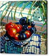 Plumbs And Nectarines Acrylic Print