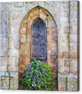 Plumergat, Brittany,france, Parish Church Window Acrylic Print