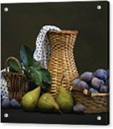 Plums And Pears Acrylic Print