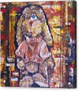 Plush Shaggy Toy Doggie Acrylic Print