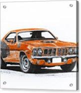 Plymouth Barracuda 1973 Hemi Cuda Acrylic Print