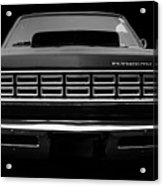 Plymouth Fury - Black Acrylic Print
