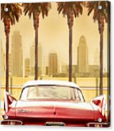 Plymouth Savoy With Palm Trees Acrylic Print