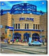 Pnc Park Acrylic Print by Matt Matthews
