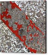 Pockmarked Concrete Acrylic Print