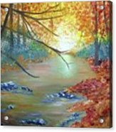 Pocono Creek In Autumn Acrylic Print