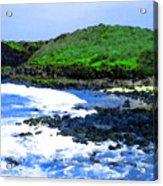 Pohaku Mauliuli Beach Acrylic Print