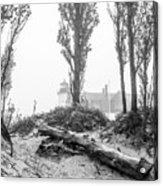 Point Betsie Lighthouse In Fog Acrylic Print