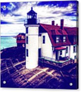 Point Betsie On Lake Michigan Acrylic Print