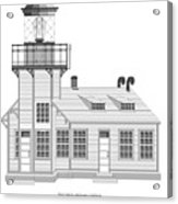 Point Cabrillo Architectural Drawing Acrylic Print