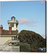 Point Fermin Light - An Elegant Victorian Style Lighthouse In Ca Acrylic Print