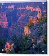 Point Imperial Sunrise 1-sq Acrylic Print