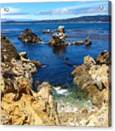 Point Lobos Whalers Cove- Seascape Art Acrylic Print